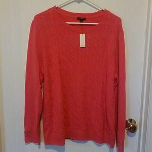 Talbots sweater pink